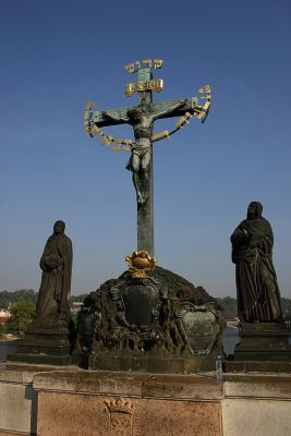 Kreuz auf der Karlsbrücke