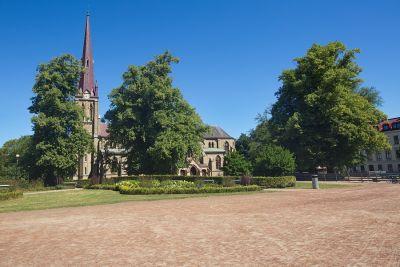 Die protestantische Kirche von Haga