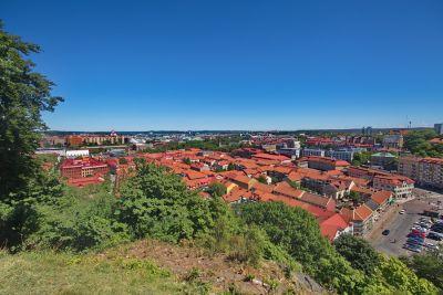 Blick über die Innenstadt vom Skansen Kronan